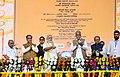 The Prime Minister, Shri Narendra Modi inaugurating Mahatma Gandhi Museum and several other development projects, in Rajkot, Gujarat.JPG