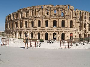 Amphitheatre - The Amphitheatre of El Jem, Tunisia