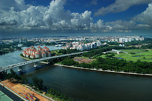 Kallang River - A view of the Kallang River from atop the Singapore Flyer