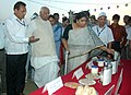 The Speaker, Lok Sabha, Shri Somnath Chatterjee going round after inaugurating an exhibition on Nutrition, organised by the Ministry of Women and Child Development to celebrate the National Nutrition Week, in New Delhi.jpg