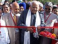 """The Speaker, Lok Sabha, Shri Somnath Chatterjee inaugurating the photo exhibition """"Indian Parliament and State Legislatures A Historical Perspective"""" in the premises of Chhattisgarh Assembly, Raipur on November 15, 2005.jpg"""