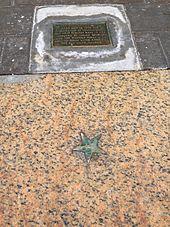 Estrella en la acera que marca el lugar donde se leyó por primera vez la Declaración de Independencia