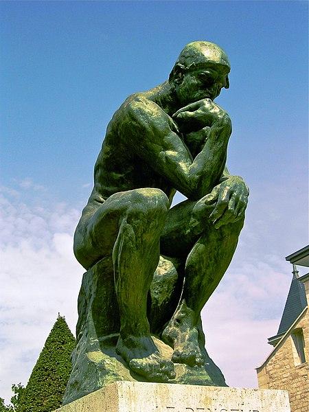 Мислилац. Аутор Огист Роден