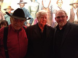 The Virginian (TV series) - James Drury, Clu Gulager and Doug Butts (SVP of Programming, INSP)