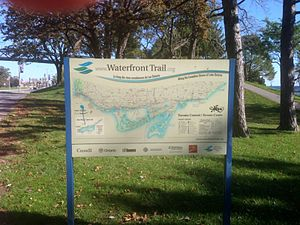 Waterfront Trail - A sign demarcating The Waterfront Trail in Toronto