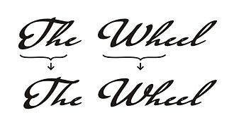"Typographic ligature - Ligatures ""Th"" and ""Wh"" illustration"