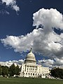 The White House in Washington DC with Bulbous Clouds.jpg