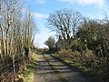 The exit road from the former Llangwyllog railway station - geograph.org.uk - 1360938.jpg