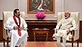 The former President of Sri Lanka, Mr. Mahinda Rajapaksa meeting the Prime Minister, Shri Narendra Modi, in New Delhi on September 12, 2018 (2).JPG