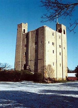 Hedingham Castle - The keep in winter, 1999