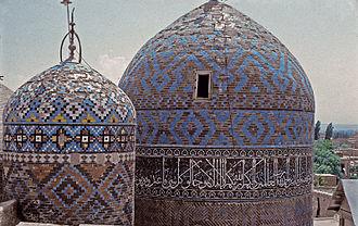 Sheikh Safi al-Din Khānegāh and Shrine Ensemble - Image: The mausoleums of Sheikh Safi