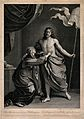 The risen Christ appears to the Virgin Mary. Line engraving Wellcome V0034823.jpg