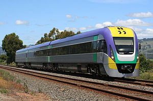 History of rail transport in Australia - A V/Line VLocity train, part of the Regional Fast Rail project