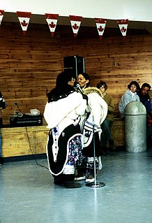 Inuit throat singing form of musical performance uniquely found among the Inuit