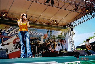 Gulfstream Park - Tiffany, a former teen pop star from the '80s, performed at Gulfstream Park in 2003.