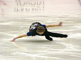 Timothy Goebel - Goebel performs a hydroblading maneuver, one of his signature moves, in 2003.