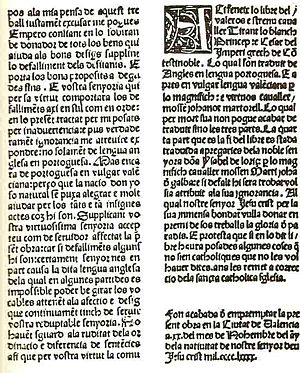 Tirant lo Blanch - Final page of 1490 edition