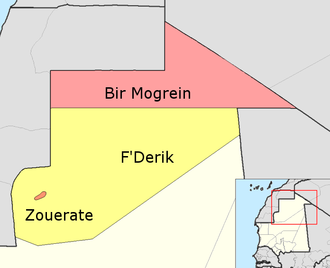 Tiris Zemmour Region - Departments of Tiris Zemmour