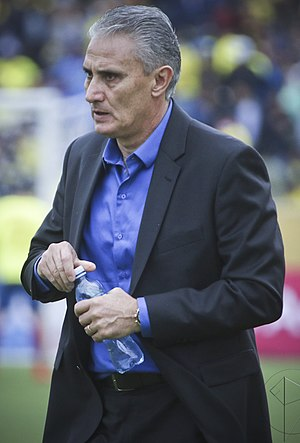 Tite (football manager) - Tite on his debut as the coach of Brazil in 2016