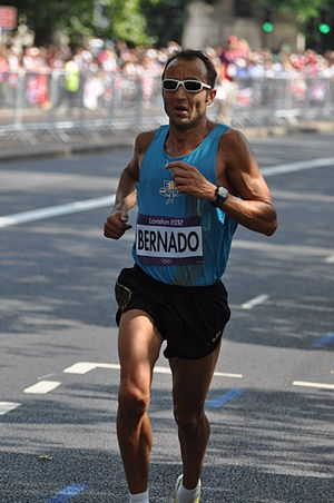 Antoni Bernadó - Bernadó in the marathon at the 2012 Olympics in London