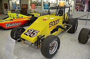 "United States Auto Club - Tony Stewart's 1995 Silver Crown Championship car, part of his ""Triple Crown"" accomplishment."