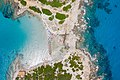 Top-Down-Luftbild vom Strand Punta Molentis auf Sardinien, Italien (48399356797).jpg