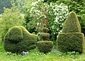 Topiary in a garden off the A260 Canterbury to Folkestone Road (geograph 2397944).jpg