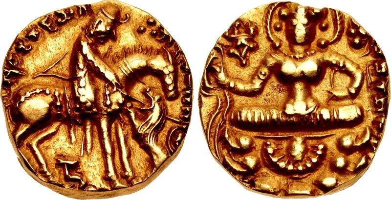 Toramana gold coin circa 490-515