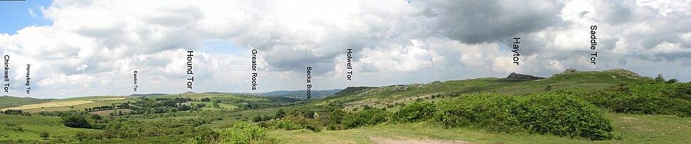 List of Dartmoor tors and hills - Howling Pixel