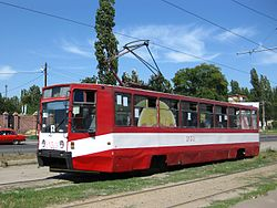 Tram 71-608K in Nikolayev.JPG