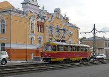 Tram in Barnaul.JPG