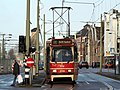 Tram line 1 of the HTM towards Delft Tanthof, car 3134 at Delft, The Netherlands.JPG