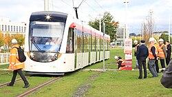 Tram testing in Edinburgh Park, 8 October 2013 (08).jpg