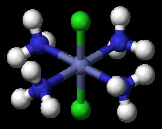Descriptor (Chemistry) - Image: Trans dichlorotetraamminec obalt(III)