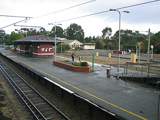 Guildford railway station, Perth - Image: Transperth Guildford Train Station