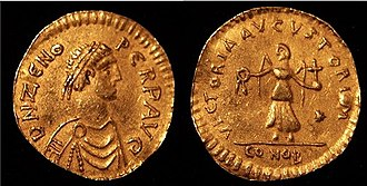Tremissis - Tremissis from Constantinople in the second reign of Zeno.