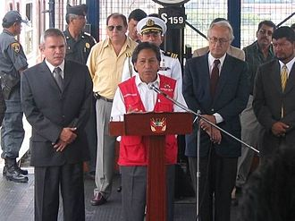 Alejandro Toledo - The subscribing of the convention for metro extension