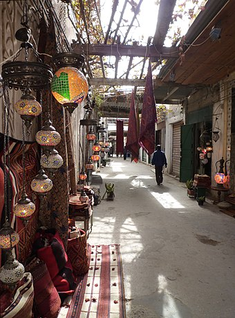Tripoli's Old City (El-Madina El-Kadima), situated in the city centre, is one of the classical sites of the Mediterranean and an important tourist attraction. Tripoli - In der Altstadt 03.jpg