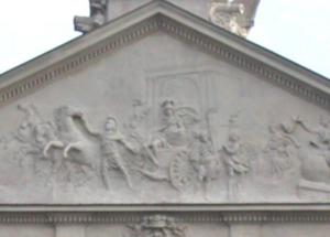 Marcus Valerius Messalla Corvinus - The triumph of Marcus Valerius Corvinus in the pediment of the Krasiński Palace in Warsaw
