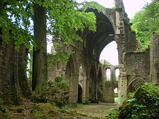 Trois-Fontaines Abbey abbey located in Marne, in France