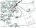 Tropical Storm Seven surface analysis 1943.jpg