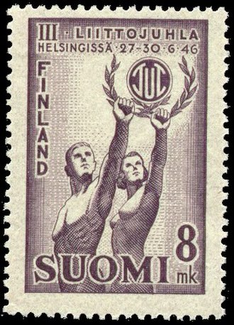 Finnish Workers' Sports Federation - A postage stamp celebrating the 1946 Federation Festival