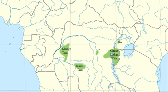 Mongo Twa - The northern Twa. The west-most group are the Mongo Twa.