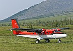 Twin Otter beginning takeoff from airstrip near Margaret Lake, Ivvavik National Park.jpg