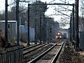 Two MBTA trains near Mansfield, MA, December 2014.JPG