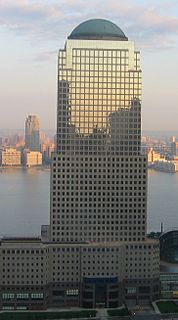 Office skyscraper in Manhattan, New York
