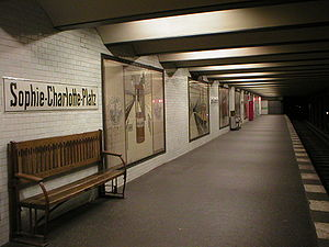 Sophie-Charlotte-Platz (Berlin U-Bahn) - Station platform