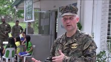 File:U.S. Navy chaplain LCDR Harvey C. Macklin interviewed in May 2014.webm