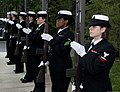 U.S. Sailors with Naval Station Everett's funeral honors team render honors to retired Lt. Cmdr. Raoul Lanning during his funeral at Tahoma National Cemetery in Kent, Wash 121207-N-MM360-043.jpg