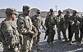 U.S. Soldiers with the Texas National Guard brief their Albanian special operations forces counterparts before conducting a checkpoint assessment near the Afghanistan-Pakistan border in the Spin Boldak district 130401-A-MX357-003.jpg